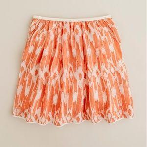 NWOT J.Crew orange detailed skirt. (K20)